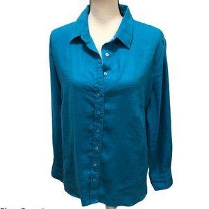 Pure Collection 100% linen button down blouse 18